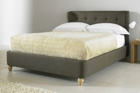 BIANCA BELIZE WING FABRIC SLEIGH BED 1