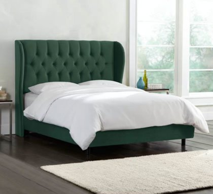 ANNETTA CHESTERFIELD UPHOLSTERED SLEIGH BED FRAME 1