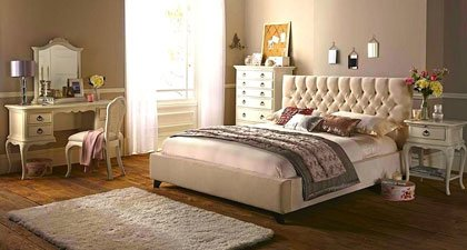 FILIPPO UPHOLSTERED FABRIC SLEIGH BED FRAME 1