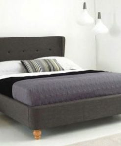 BIANCA BELIZE WING FABRIC SLEIGH BED 5
