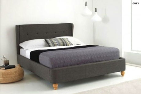 BIANCA BELIZE WING FABRIC SLEIGH BED 2