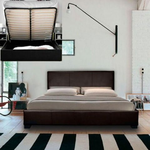 Rizzo Designer Leather Bed with Mattress 1