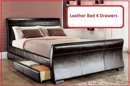 Serena Faux Leather Bed - Double - King 1