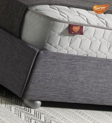 Alfonsina Fabric Sleigh Bed With Mattress & Storage 3