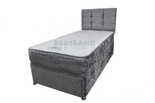 ADDERALL Suede 3FT Single Divan Storage Beds With Headboard 1