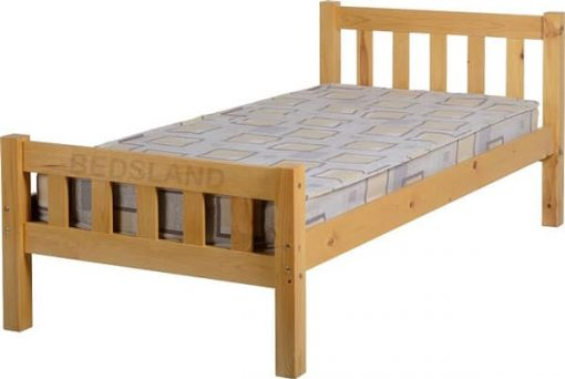 Carlow Wooden Bed Set With Mattress 1