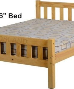 Carlow Wooden Bed Set With Mattress 8