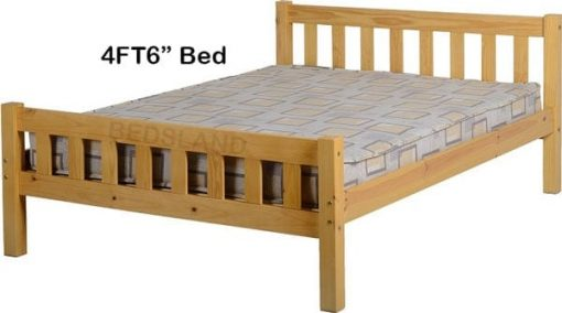 Carlow Wooden Bed Set With Mattress 2