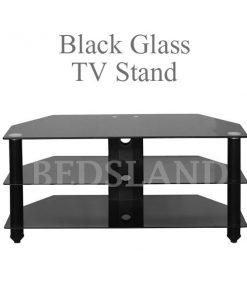 Bromley Black Glass TV Stand For Sale 3