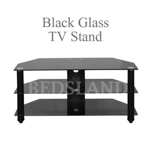Bromley Black Glass TV Stand For Sale 2