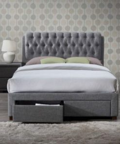 Aisley Modern Fabric Upholstered Sleigh Bed 7