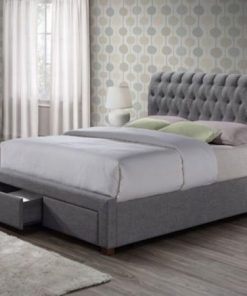 Aisley Modern Fabric Upholstered Sleigh Bed 8