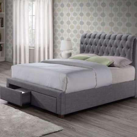 Aisley Modern Fabric Upholstered Sleigh Bed 3
