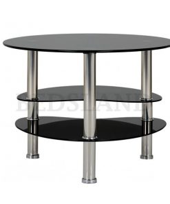 Cara Coffee Table in Black Glass/Silver 4