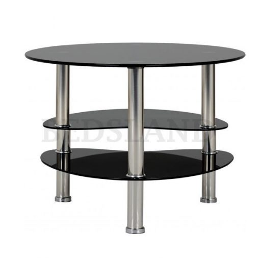 Cara Coffee Table in Black Glass/Silver 2