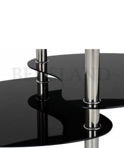 Cara Coffee Table in Black Glass/Silver 5