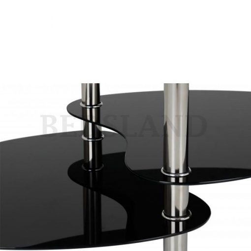 Cara Coffee Table in Black Glass/Silver 3