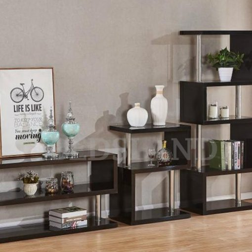 Charisma 3 Shelf Unit in Black/White Colour 1