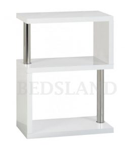 Charisma 3 Shelf Unit in Black/White Colour 5