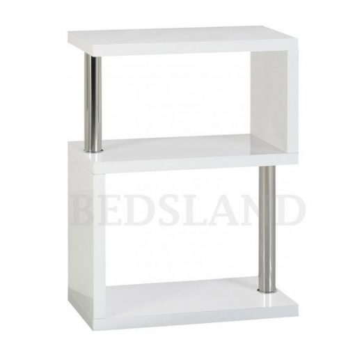 Charisma 3 Shelf Unit in Black/White Colour 3