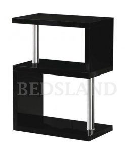 Charisma 3 Shelf Unit in Black/White Colour 4