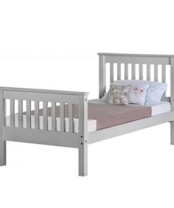 Med Monaco Wooden Bed Set With Mattress 6