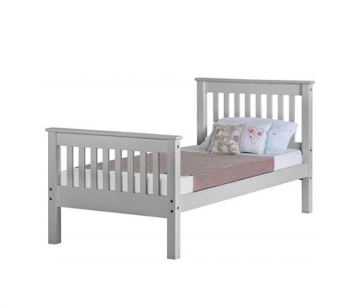 Med Monaco Wooden Bed Set With Mattress 2