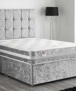Griselda Silver Crushed Velvet Divan Base Sale 3
