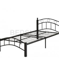Luton Metal Frame Bed Single & Double With Mattress 7