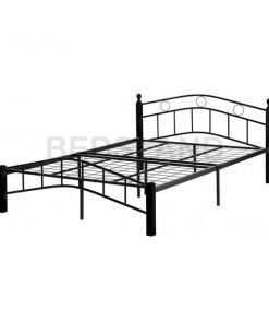 Luton Metal Frame Bed Single & Double With Mattress 8