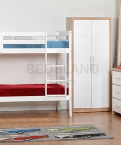 Med Panama  Bunk Wooden Bed Set With Mattress 7
