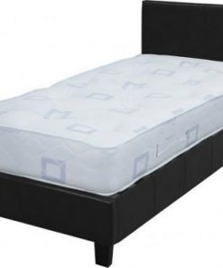 Prado Designer Faux Leather Bed With Mattress 5