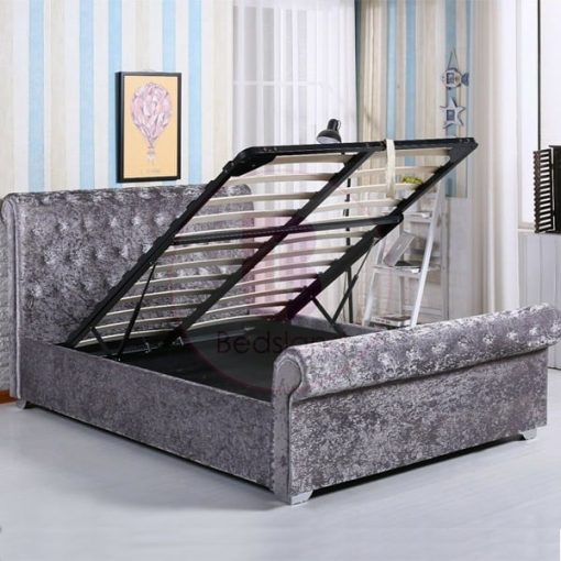 SOFIA 4FT6 Double Crushed Velvet Ottoman Storage Bed 1