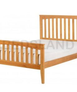 Stella King Size 5ft Wooden Bed Set With Mattress 5