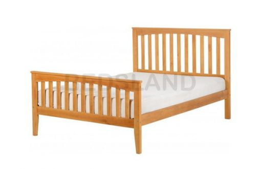 Stella King Size 5ft Wooden Bed Set With Mattress 2