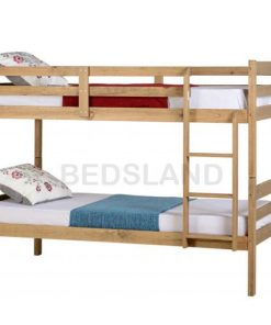 Med Panama  Bunk Wooden Bed Set With Mattress 9