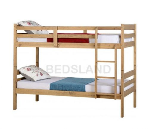 Med Panama  Bunk Wooden Bed Set With Mattress 4