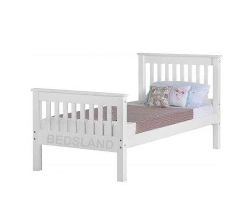 Med Monaco Wooden Bed Set With Mattress 1