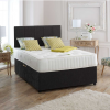 LOGAN Black Suede 3FT Single Bed With Storage 10