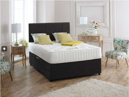 MELODY 4FT6 Double Divan Storage Bed 1