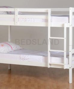 Med Panama  Bunk Wooden Bed Set With Mattress 8