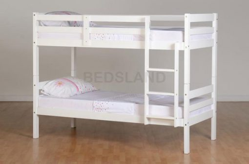 Med Panama  Bunk Wooden Bed Set With Mattress 3