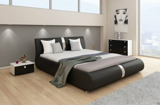 Marsia Designer Faux Leather Bed| Double & King Size 1