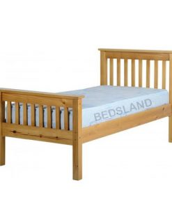 Med Monaco Wooden Bed Set With Mattress 7
