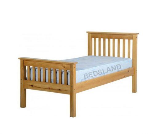 Med Monaco Wooden Bed Set With Mattress 3