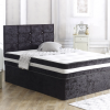 REXHA Crushed Velvet 3FT SINGLE Bed With Headboard 4