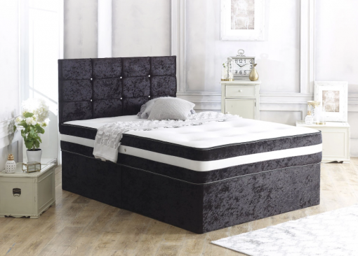 BIEBER Black Divan Bed Set 2