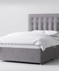 ANNE MARIE 4FT6 Grey Double Bed with Drawers 3