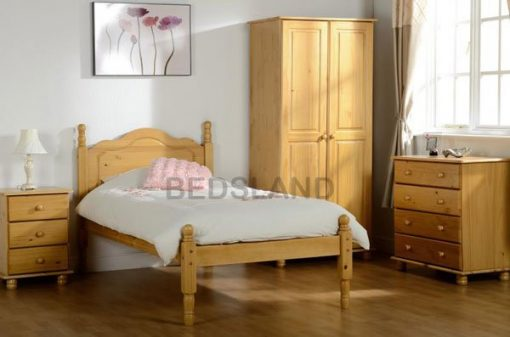 Med Sol Double Wooden Bed Set With Mattress 1