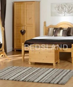 Med Sol Double Wooden Bed Set With Mattress 7